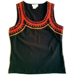 Soft Surroundings Embroidered Top